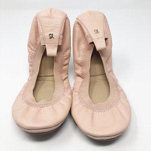 Yosi Samra I Pink Elastic Flats